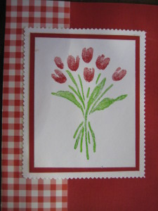 Hand-Colored Tulips