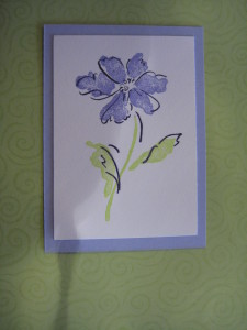 Hand-Colored Single Flower